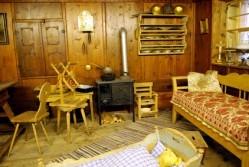 living room in an original old bavarian farm house
