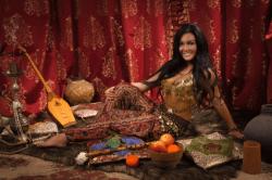 das schlafzimmer mit einer orientalischen wohnungs einrichtung zu ...