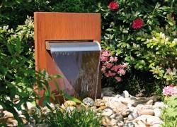 Slink_Garten-Wasserfall_Cortenstahlbrunnen_Gartendesign
