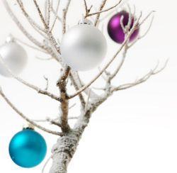 lila-weihnachtsdeko