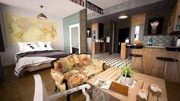 1-Zimmer-Wohnung